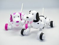 Wholesale Dancing Dog Toys - Smart RC Dogs 2.4GHz Radio Control dogs Electric dog intelligent Pet Animals Educational Robot Dog RC Toys Dancing realistic Dogs