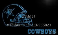 LD317-TM Dallas Cowboys Helmet NR Bar Neon Light Sign Publicité