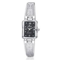 Wholesale Women Watch Bracelet Elegant - Women Vintage Watches New Brand SOXY Elegant Luxury Quartz Fashion Rectangle Dial Watch Carved Patterns Bracelet Casual WristWatches