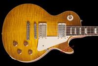 Wholesale Electric Guitar 1959 Red - 10S Custom Shop Joe Bonamassa Skinnerburst 1959 Tom Murphy Aged Signed Dirty Lemon Electric Guitar