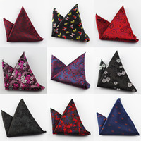 Wholesale Silk Handkerchief Ties - Paisley Silk Handkerchiefs Woven Animal Pattern Hanky Men's Business Casual Square Pockets Handkerchief Wedding Hankies for tie