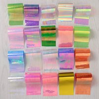 Wholesale Transfer Paper Nail - Wholesale- 20Pcs set Starry Sky Nail Foils Nail Art Transfer Sticker Paper Fashion DIY Nail Tips Decoration