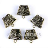 Wholesale Scarf Pendent - 12 Pieces lot Wholesale Antique Bronze Owl Pendent Scarf Slide Bails, Free Shipping, AC0243B Pendants Cheap Pendants