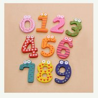 Wholesale Digital Learning Toys - 10 pieces of a set of Wooden Digital Fridge Magnets Magnetic StickersChildren's Early Learning Educational Maths Toy