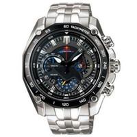 Wholesale Second Watches - Drop shipping EF-550RBSP-1AV EF-550RBSP-1A EF 550RBSP 550 Sports Chronograph Men's Watch 1 20 Second Stopwatch full steel mens quartz watch