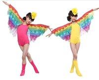 Wholesale Worm Costumes - 2016 Girls dance Costume Children Bird Animal Worm Costumes Girls Butterfly Wings Performance kids modern ballroom dancewear