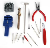 Wholesale clock repair tool kit - 2017 High Quality New Universal 16PC Set Watch Clock Opener Tool Kit Watch Repair Tool Cell Pin Remover Fixed Tools Watchmaker