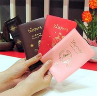 Wholesale Document Protector - New Nice Passport Wallets Card Holders Cover Case Protector PU Leather Passport Credit ID Holder Card Document passport case 3Colors 4097