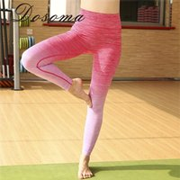 Wholesale-Women's Sports Yoga Pants Workout Fitness Legging Lady High Elastic Running Tight Girl Rapido e seco Use Moisture-wicking