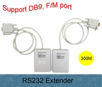 Wholesale Max Extender - Free shipping Male to Female RS232 serial Extender to slove your long distance connection problem Max 300m