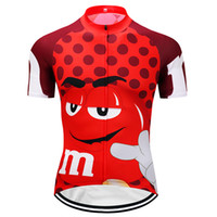Wholesale Funny Jerseys - Crossrider M&M Funny cycling jersey Mtb Retro Bicycle Clothing cartoon Bike Wear Clothes Short Maillot Roupa Ropa De Ciclismo Hombre Verano