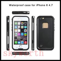 Wholesale Surfing Iphone Covers - XLF Redpepper shockproof Dustproof Waterproof case swimming surfing cover for iphone 7 Plus 6 6 plus 5 5s 4 4s with retail box