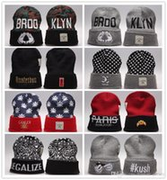 Wholesale Real Gold For Sale Men - 2017 New Cayler & Sons BROOKLYN Hand Beanies Caps Classic Paris beanie Street Hip Hop Winter Cotton Kush Legalize Knitted Hats For Sale