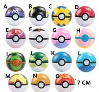 7CM Poke Ball Toys Pokeball Tipi 15 stili Poke Cosplay Pop-up Master Grande Ultra GS regalo Kid bambini