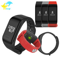 Wholesale F1 Android - Fitness Tracker Wristband Heart Rate Monitor Smart Band F1 Smartband Blood Pressure With Pedometer Bracelet