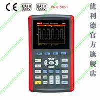 Wholesale Single Channel Oscilloscope - Wholesale-UTD1025CL Handheld oscilloscope 25MHz Single Channel 200Ms s 320X240 3.5 inches LCD USB Oscilloscope