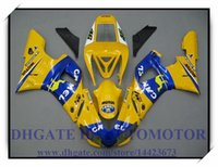 ЖЕЛТЫЙ СИНИЙ ВПРЫСКА BRAND NEW обтекателя KIT 100% FIT FOR YAMAHA YZF R1 YZF1000 1998-1999 YZFR1 1998 1999 YZF R1 98 99 # SX833