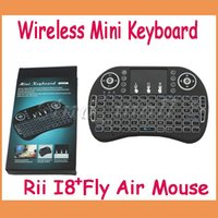 2.4GHZ USB Mini Wireless Mini Keyboard Rii I8+ Multi-media 2.4GHz With Touchpad Backlight Air Fly Mouse For Android TV Box