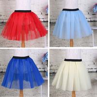 purple fluffy skirts NZ - 2016 Summer Lovely Fluffy Soft Tulle Girls Tutu Skirt Pettiskirt Skirts for 3-7 Y Kids Clothes