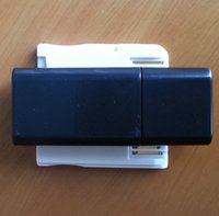 Wholesale Dual Sdhc - 2017 White Dual-Core SDHC Cartridge USB Card Reader DHL FEDEX FREE SHIPPING