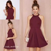 f95f7bb20 2017 Burgundy Prom Dress High Quality Wine Red Short Special Occasion Dress  Party Dress For Graduation Homecoming vestidos de fiesta cortos
