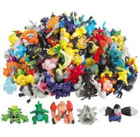 Wholesale Mini Cute Action Figure - 168PCS Lot 2-3CM Poke mon Toys Mix Style New Cute Cartoon Monster Mini Figures Toys Brinquedos Action Figure Pikachu Toys For Children New