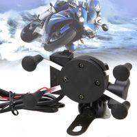 carregador de telefone de bicicleta venda por atacado-Atacado-X-Grip RAM Motocicleta Bike Car Mount Cell Phone Holder Carregador USB para telefone A273