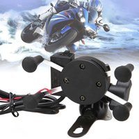 Wholesale Usb Bike Charger - Wholesale-X-Grip RAM Motorcycle Bike Car Mount Cellphone Holder USB Charger For Phone A273