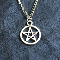 Wholesale Collection Tins - New Fashion alloy statement Pendant Necklace Pentacle brandy Supernature movie collection metal Unisex Pentagram colares femininos jewelry