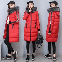 Wholesale Ladies Larger Size - Fur Hood Coat Tops For Women Ladies Winter Jackets Down Parkas Thick Warm Outdoor Outwear Cotton Padded Larger Size 2017