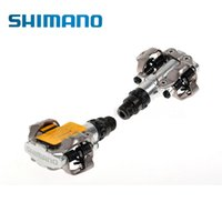 Wholesale Pedal Clipless - HOT! SHIMANO PD-M520 M520 Chrome-moly & Aluminum Compact Road MTB Bike Bicycle Cycling Self-Locking Pedal Clipless SPD SM-SH51 Cleats ZR031