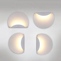 ingrosso specchietti di vetro portati-porta Nuovo design 6W LED Lampade in alluminio Camera da letto Applique da parete luce luci a parete per soggiorno scala bagno