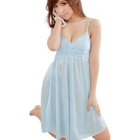 Оптово-женщины Sleepwear Sex Sling Night Deep V Silk Nightgowns Sleep Dress Одежды Sleepwear Chemise Nightwear