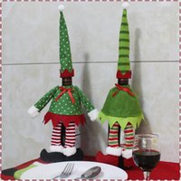 Wholesale Store Supply Wholesale - Christmas Decorations Christmas Wine Set Christmas Party Supplies Elf Red Wine Champagne Set bottle champagne in store sell