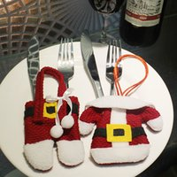 Christmas Dinner Table Decoration Messer und Gabel Cover Weihnachten Kleine Kleidung Kleine Hosen Style 1 Set / 2ST