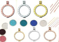 Wholesale Steel Jewelry Diy - stainless steel jewelry coin holder chain complete set 33mm diy rhinestone diamond coin engraved fashion Mi moneda pendant locket necklace