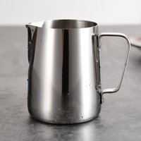 Wholesale Espresso Mugs - Japanese-style Thickened Stainless Steel Espresso Coffee Milk Cup Mugs caneca thermo Frothing Pitcher Steaming Frothing Pitcher