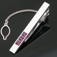 krawatte clip stahl großhandel-Neue Ankunft Gentleman Einfache Krawatte Krawatte Clip Bar Verschlüsse Praktische Edelstahl Krawattenklammern Für Männer L-313