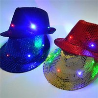 Wholesale light up hats wholesale - Led Hat Unisex Lighted Up Hat Glow Club Party Baseball Hip-Hop Jazz Dance Led Llights epacket