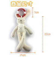 Wholesale Bell Plush - 10pcs lot Boy girl Animal soft Rattle Ring Bell Crib Bed Hanging Toy baby plush with Wind bell doll bunny gift