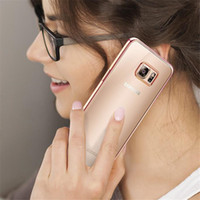 Fall für Samsung Galaxy Note 5 Kanten Cases Luxus Rose Gold Plating TPU Softshell-Silikon-Luxus von IPhone 7 6 6s Fall