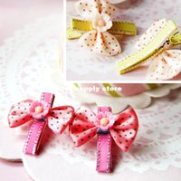 Wholesale Hair Flower Clip Supplies - Cute!!! South Korea Tactic Yorkshire Pet Bow Hair Clip Dog Flower hairpin pet accessories pet supply 20pcs