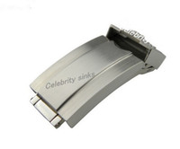 Wholesale silver brush clasp resale online - 16mm band buckle Deployment clasp Silver All brushed High quality Stainless Steel for rolexwatch