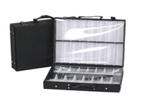 Wholesale Eyewear Tray - eyeglass double tray sample bag display storage box suitcase eyewear brief case tray with dividers sample carring bag