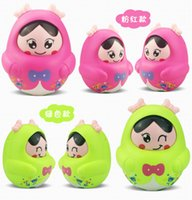 Wholesale China Boy Baby - free shipping whilesale Infants and children tumbler toys baby tuba Decoration Music Puzzle boys and girls nodding doll 2 years 3 months