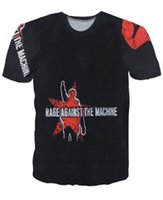 Wholesale Top Shirt Printing Machine - New Style Rage Against The Machine Women Men T shirt Unisex Tee Couples T-shirt 3D Novel Digital Print Short Sleeve Tops Casual Shirt