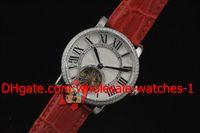 мужчины роскошный калибр 36 смотреть оптовых-Оптовая продажа-роскошные 36 мм платиновый бриллиант Ronde Калибр мужские часы автоматические механические наручные часы мужские часы