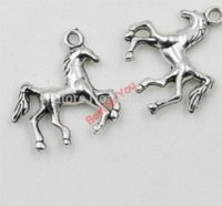 Wholesale Cheap Horse Necklaces - 72pcs Tibetan Silver Plated Horse Charms Pendants For Jewelry Making Diy Craft 23x22mm Charms Cheap Charms