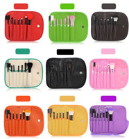 Wholesale Facial Blush - 2017 Free Shipping Hotselling 7pcs Makeup Brush Set Personal Blush Eyeshadow Powder Fpundation Facial Cosmetic Brush With PU Bag