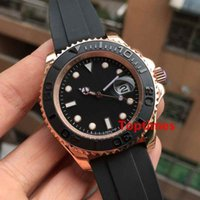 gummi armband uhr herren großhandel-Rose Gold Rubber Oysterflex Armband Mode Armbanduhren 40mm Keramik Lünette Herren Sport Luxusuhr Männer Automatische Selbstwind Uhren